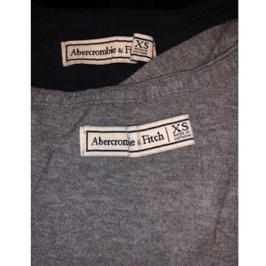 2 for 1 a&f v neck teeshirts
